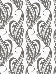 vector seamless  monochrome pattern