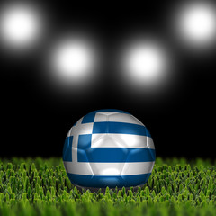 3D soccer balls with national flag  Country Greece