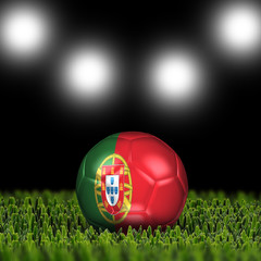 3D soccer balls with national flag  Country Portugal