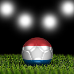 3D soccer balls with national flag  Country Netherlands