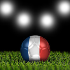 3D soccer balls with national flag  Country France