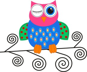 a colorful owl