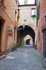 Street of the Vaults. Ferrara. Emilia-Romagna. Italy.
