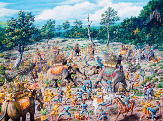 Thai war by oil painting