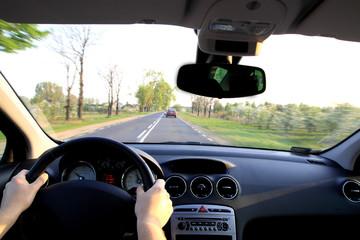 Fototapete - behind the wheel
