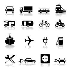 Symbole Set Verkehr