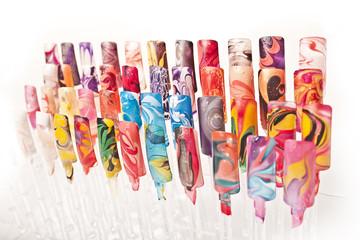 Obraz Próbnik wzorów malowania paznokci - fototapety do salonu