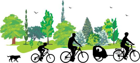 Canvas Print - CYCLISME EN FAMILLE