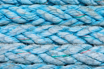 Horizontal Rows of Blue Twisted Rope