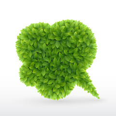 Wall Mural - Eco Friendly Bubble for speech,