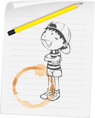 Boy on paper