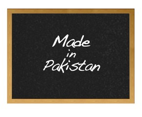 Made in Pakistan.