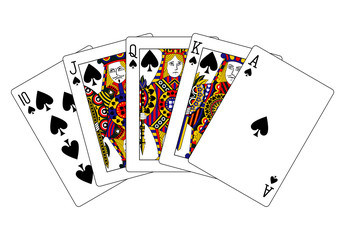 spades royal flush