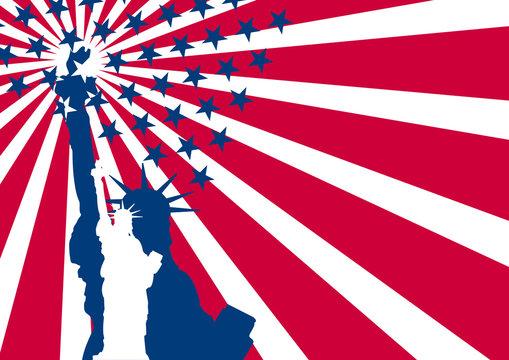 usa flag liberty