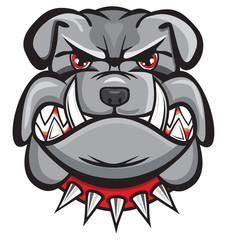 Angry bulldog head