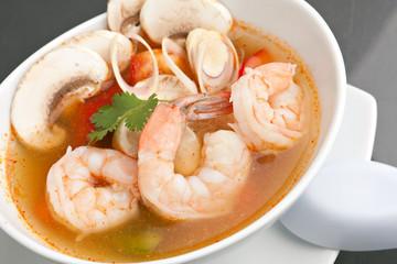Thai Vegetable Soup with Shrimp