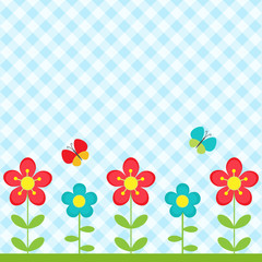 Keuken foto achterwand Vlinders Flowers and butterflies