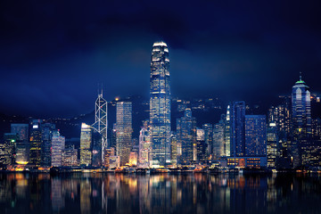 Photo sur Aluminium Hong-Kong Hong Kong Lights