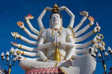 Statue of Shiva on Koh Samui island in Thailand