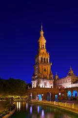 Palace at Spanish Square in Sevilla Spain