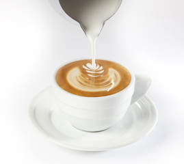 Latte Art - Leaf