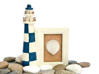 lighthouse wooden frame