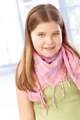 Portrait of smiling schoolgirl