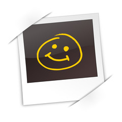 Polaroid mit Smiley