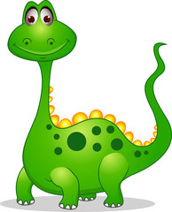 Photo sur cadre textile Dinosaurs Cute green dinosaur cartoon