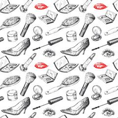 seamless pattern - women's accessories