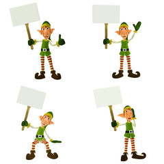 Christmas Elf with Signs Pack
