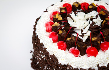 Decorated Christmas cake
