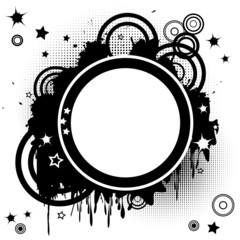 Abstract background with funky circles
