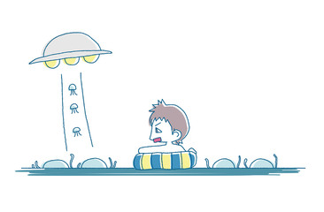 クラゲと少年