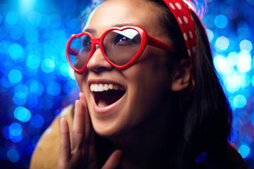 Ecstatic girl