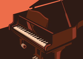 Illustration of piano.