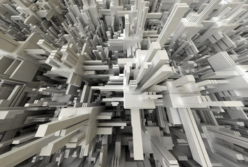 3D Abstract Modern Structure