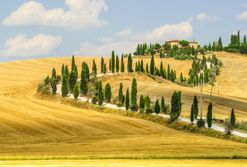 Foto op Canvas Meloen Old farm in Val d'Orcia (Tuscany)