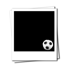 soccer ball in a photo frame