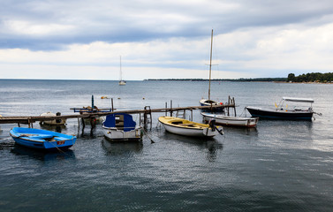 Fishing Boats in Porec, Croatia
