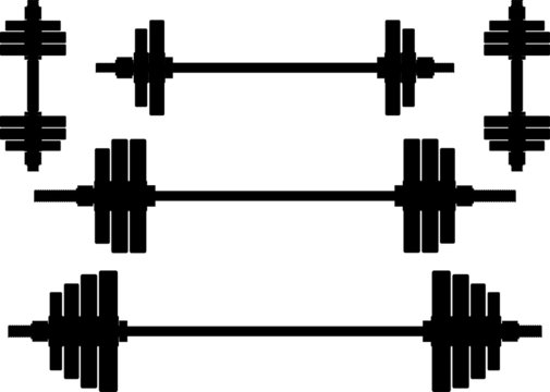 silhouettes of weights. second wariant