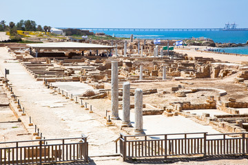 Wall Mural - Ruins of antique Caesarea. Israel.