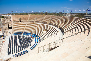 Fotomurales - Caesarea Theatre. Israel.