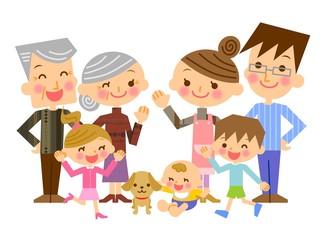 家族 三世代 イラスト