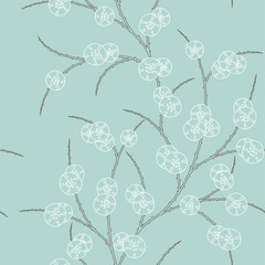 retro pattern with floral ornament