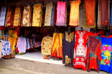 Balinese colourful batik (Indonesia)
