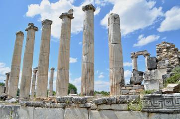 Tilt up view of roman colums
