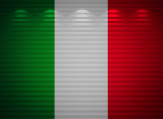 Italian flag wall, abstract background