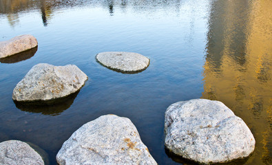 rocks on a water
