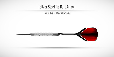 Realistic Steel Tip Dart Arrow